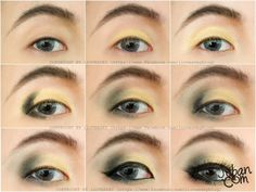 Elegance Gold Asian eye make up By iloveaday