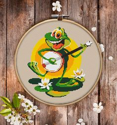 Cool Cross Stitch Pattern of Frog for Instant Download  028