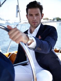 Auf der Yacht - Chad Masters - My Style - dapper men's wear - Men Costume En Lin, Costume Sexy, Gentleman Mode, Gentleman Style, Look Fashion, Trendy Fashion, Mens Fashion, Fashion Clothes, Fashion Ideas