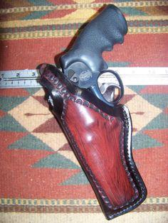 LEFT-HAND-S-W-25-27-29-625-627-629-Colt-Anaconda-4-Barrel-Leather-Field-Holster