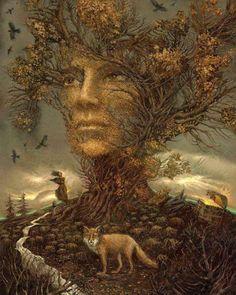 Póngase de pie y orgulloso. Hunda sus raíces profundamente en la tierra. Refleje la luz de su verdadera naturaleza. Piense a largo…