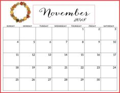 November 2018 Blank Printable Calendar Download. November, Printable Calendar Template, Monday Tuesday Wednesday, Calendar 2018, Printables, Bullet Journal, Printable Templates