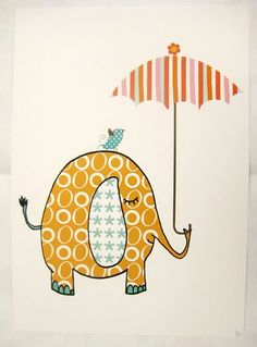 fun print. could maybe have kids recreate it cutting out pretty paper.