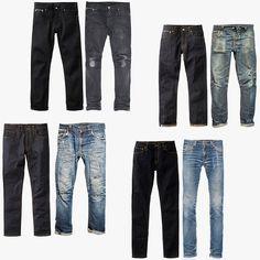 Tilted Gate Tape Ted Lean Dean Nudie Men/'s Slim Tapered Fit JeansGrim Tim