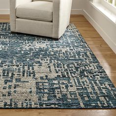Shop Celosia Indigo Blue Hand Knotted Rug Mineral-encrusted walls along the waterways of India's Ganges River inspired this gorgeous blue rug, rendered in a pixilated array of neutral and cool, tonal blues. Unique Furniture, Custom Furniture, Color Secundario, Mirror With Shelf, D House, Contemporary Area Rugs, Modern Rugs, Cool Rugs, Rug Sale