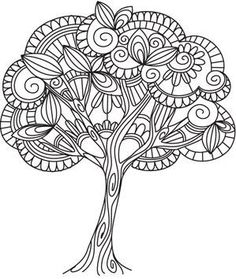 Delicate Tree this is a machine embroidery pattern - I could envision something like this in ink. Like a Zentangle. Lots of other tree patterns available here as well.