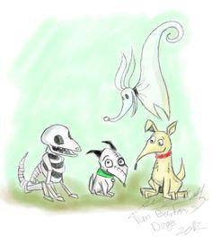 Tim Burton's Dogs by amymethvenart.deviantart.com on @deviantART