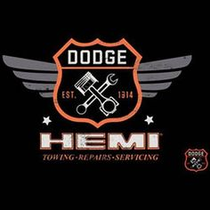Vintage Dodge Garage Hemi Licensed Emblem Adult Unisex LONG SLEEVE T Shirt 20415E4