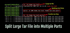 Create and Split tar into Multiple Files or Parts in Linux