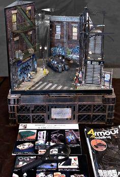 SHIZUOKA Hobby Show in 2013 !! My Gotham City  Diorama. (1/35 scale ) By SATOSHI ARAKI