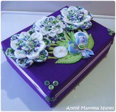 Caixas: Modelos de Caixas Decoradas e Forradas by Ateliê Manoela Nunes, via Flickr