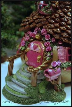 Fairy House - pink version  gourd