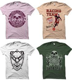Best T shirt design vector reviews in 2019 [Fully update] - maabdullah.us Skull Motorcycle, Vintage T-shirts, Design Vintage, T Shirt Design Vector, T Shirt Factory, Best T Shirt Designs, Shirt Template, Grunge, Co Design
