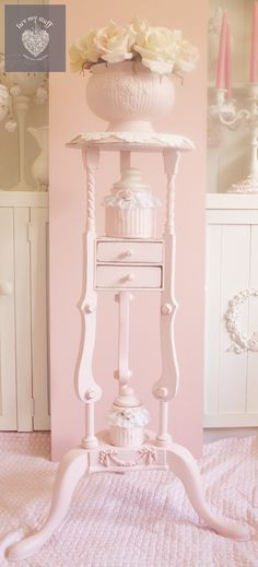 PINKALICOUS plant stand and rose bowl by Luv My Stuff  www.luvmystuff.com.au
