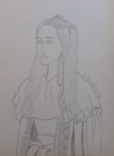 Drawing made by F.R.Jacobs, inspired on Mary from reign