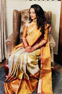 Bridal Sarees South Indian, Bridal Silk Saree, Indian Silk Sarees, Indian Bridal Outfits, Indian Bridal Fashion, South Indian Bride, Indian Beauty Saree, Christian Bridal Saree, Saree Photoshoot
