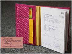 U-Heft Schutzumschlag (Nähanleitung und Schnittmuster als praktisches PDF-E-Book von shesmile)