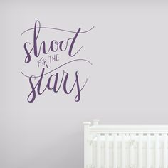 Shoot For The Stars Wall Decal  #motivational #quotes #calligraphy