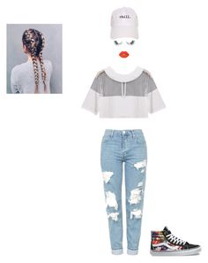 """I'll take you as you are"" by hrockholt ❤ liked on Polyvore featuring Topshop, Unicorn Lashes, Lime Crime and Vans"