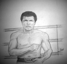 MUHAMMAD ALI BOXING GREAT CASSIUS CLAY FIGHTS RING GRAPHITE PENCIL DRAWING #Realism Muhammad Ali Boxing, Sports Drawings, Mike Tyson, Pencil Drawings, Clay, Art, Clays, Art Background, Kunst