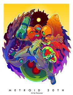 Metroid 30th Anniversary Tribute Art Created by Tomycase