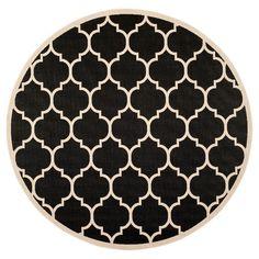 Safavieh Malaga Outdoor Rug - Black / Beige