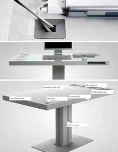 To say 'Milk' was styled for Apple users might be an understatement. Streamlined like a Mac and with equal emphasis on sleek form and minimalist functionality, this computer desk might not stand the test of time (e.g. when the world truly goes wireless) but as a contemporary of-the-moment work s ...