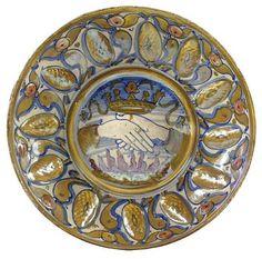 GUBBIO LUSTRED PLATE, MAESTRO GIORGIO, CIRCA 1530-40 #TuscanyAgriturismoGiratola