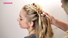 Try out this gorgeous alternative to French braiding.