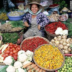 in Ho Chi Minh City, Vietnam. Vietnamese Street Food, Vietnamese Restaurant, Restaurant Design, Paella, Hue, Life Is Good, Spices, Fresh, Vegetables