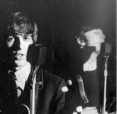George Harrison and John Lennon.