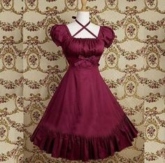 I found Handmade Cotton Classic Lolita Dress Lolita Clothes Red Ruffles (Made to Order) on Wish, check it out!