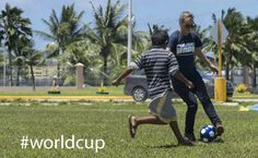 HOPE volunteers in Indonesia on Pacific Partnership 2014 played soccer during the opening ceremonies. #worldcup