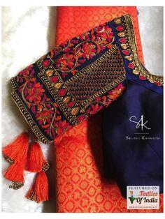 Wedding Saree Blouse Designs, Designer Blouse Patterns, Fancy Blouse Designs, Blouse Neck Designs, Wedding Sarees, Hand Work Blouse Design, Stylish Blouse Design, Traditional Blouse Designs, Thing 1