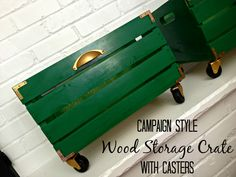 The Great Crate Challenge - Campaign Style Wood Crate | Houseologie