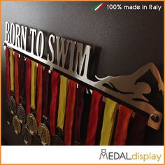 BORN TO SWIM Female  Swimming Medal Display  Medal by MEDALdisplay