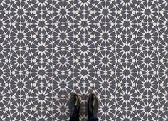 Rabat     <br/>Circle Pattern Vinyl Flooring