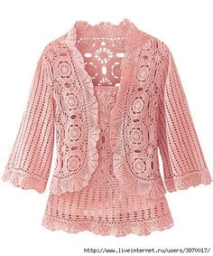 Motif Jacket and Top Set free crochet graph pattern