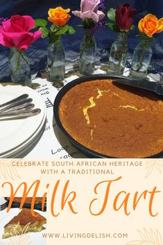 Celebrate this heritage day in a true South African way with this delicious milk tart. This crustless recipe will have everyone talking. Oven Chicken Recipes, Dutch Oven Recipes, Tart Recipes, Baking Recipes, Dessert Recipes, Salted Caramel Fudge, Salted Caramels, Milk Tart, South African Recipes