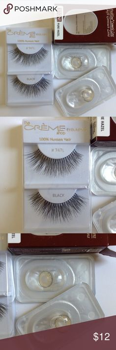 Lashes & Pure Hazel Color Contact Cosmetic Lenses This listing is for 1 pair of color contact lenses. You can mix and match any 1 pair color contact lenses with any 1 pair false lashes or 1 choker for $12. The diameter of lenses are 14.5 mm. Please always wash your hands before you touch the lenses. Always put lenses in case with lens solution when you are not using them anymore, to keep the lenses from being contaminated. If your eyes are irritated, take lenses off. Please contact me there…