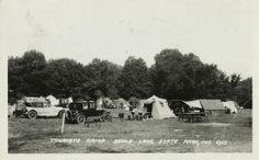 Tourist Camp, Devil's Lake State Park; August 1935. Baraboo, WI   Wisconsin Historical Society