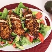 Spicy Grilled Chicken and Avocado Salad Recipe - Laura in the Kitchen - Internet Cooking Show Starring Laura Vitale