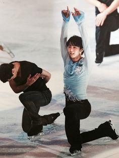 Yuzuru Hanyu & Javier Fernandez. GPF Exhibition 2014.
