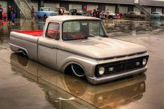 Slammed early model Ford truck