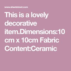 This is a lovely decorative x Fabric Content:Ceramic Oil Burners, Decorative Items, Aromatherapy, Elephant, Content, Candles, Ceramics, Fabric, Ceramica