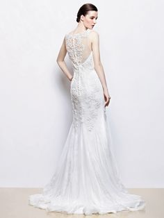 Enzoani Ivanka Back view - 2014 collection wedding dress available at the Harrogate Wedding Lounge