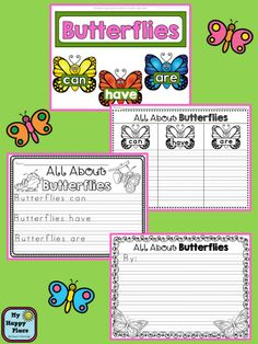 Butterfly Life Cycles: Science, Literacy, Math, Informational Writing, Anchor Carts, Printables! #butterflies #kindergarten #firstgrade $