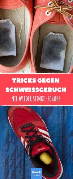 Nie wieder Stinke-Schuhe im Sommer. Mit diesen 10 Tricks wirst du den fiesen Sch… Never again stinky shoes in the summer. With these 10 tricks you'll get rid of the nasty smell of sweat.
