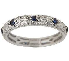 Diamonique Epiphany simulated sapphire and diamond Tacori ring