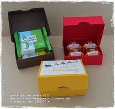 Küsschen und Mini Ritter Sport-Verpackung mit Anleitung